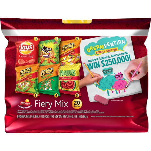 Frito Lay's Fritolay Fiery Mix Variety Pack (0 981 oz) from