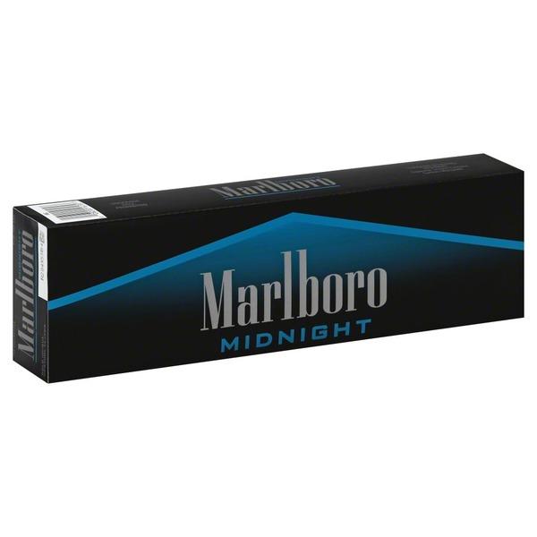 Marlboro Cigarettes Midnight Menthol Flip Top Box 10 Ea From