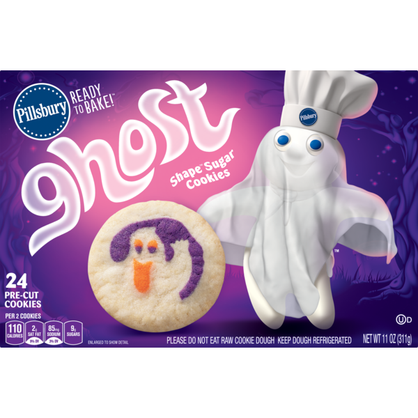 Pillsbury Ready To Bake Ghost Shape Sugar Cookies From King