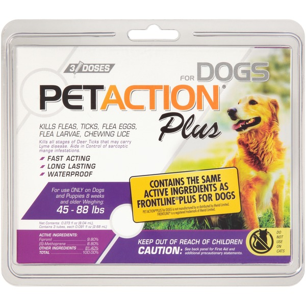 Petaction Pet Action Plus For Dogs 0 273 Fl Oz From Vons