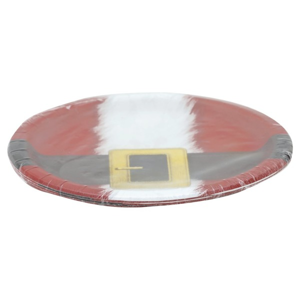 Party Creations Plates Santas Suit 8 34 Inch 8 Ea From Albertsons