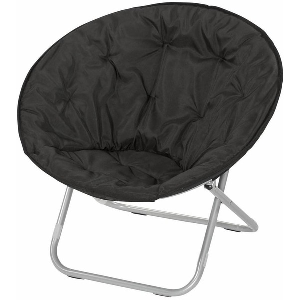 Sensational Everyday Living El2 Galaxy Folding Black Saucer Chair 28 In Caraccident5 Cool Chair Designs And Ideas Caraccident5Info