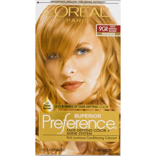 L\'Oreal Paris Superior Preference Permanent Hair Color 9GR Light ...