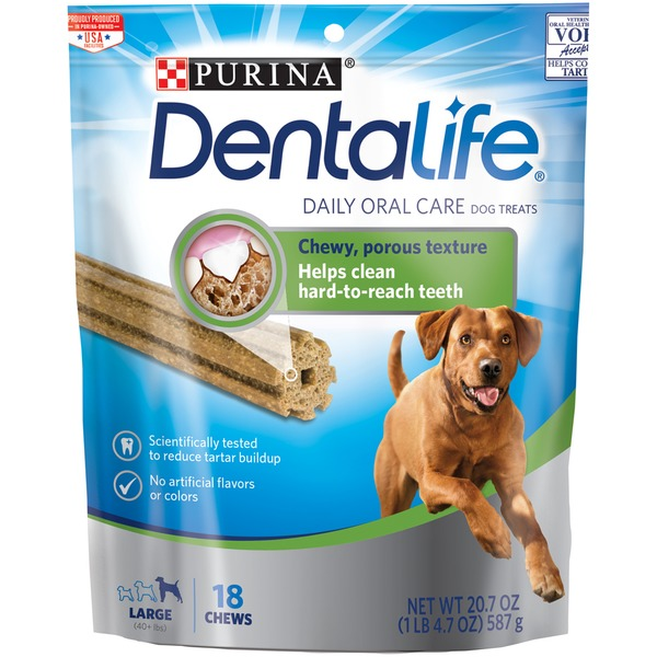 Dentalife Dog Daily Oral Care Large Dog Treats Ct From Stop - Every day this dog goes shopping all by himself to get treats