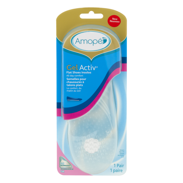 41da0cb3cf Amope Gel Activ Flat Shoes Insoles Women's Size 5-10 (1 ct) from ...