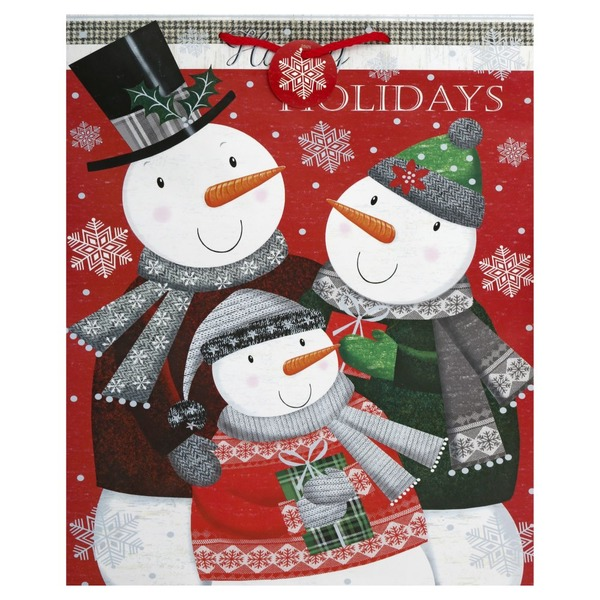 Albertsons Christmas Hours.Lindy Bowman Gift Bag Happy Holidays 1 Each From