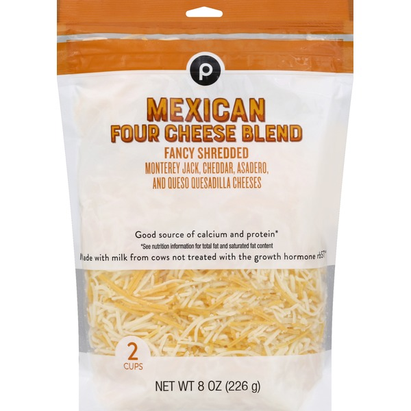 Publix Cheese, Mexican Four Cheese Blend, Fancy Shredded