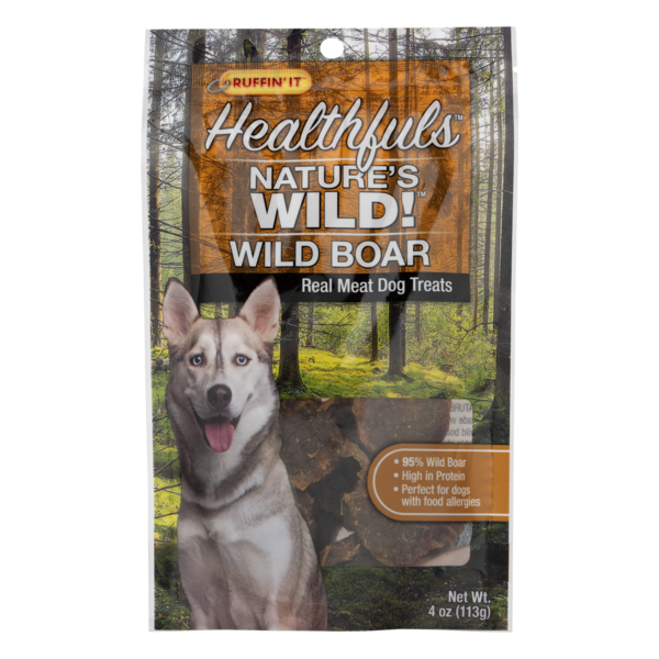 Ruffin' It Healthfus Nature's Wild! Wild Boar Dog Treats (4 oz
