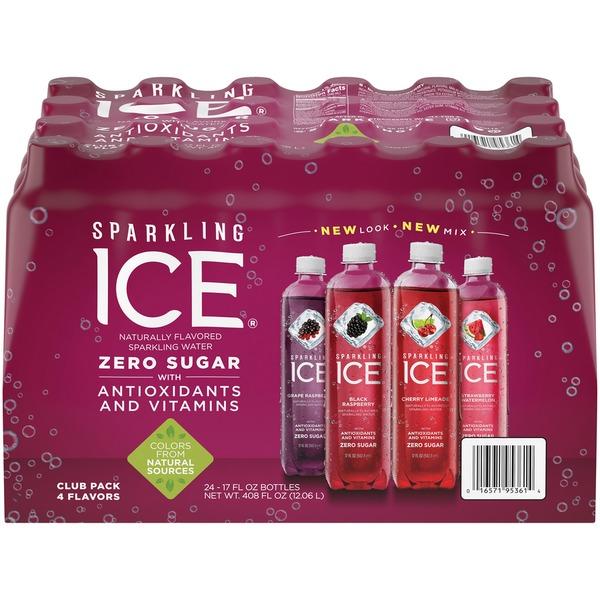 Sparkling Ice Black Raspberry Cherry Limeade Grape Raspberry And