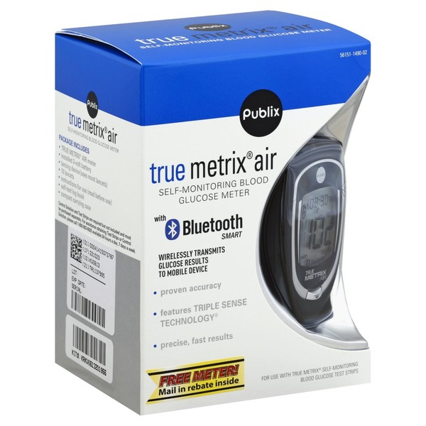 Publix Self-Monitoring Blood Glucose Meter, True Metrix Air