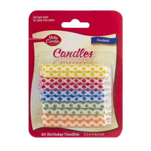 Betty Crocker Birthday Candles Confetti