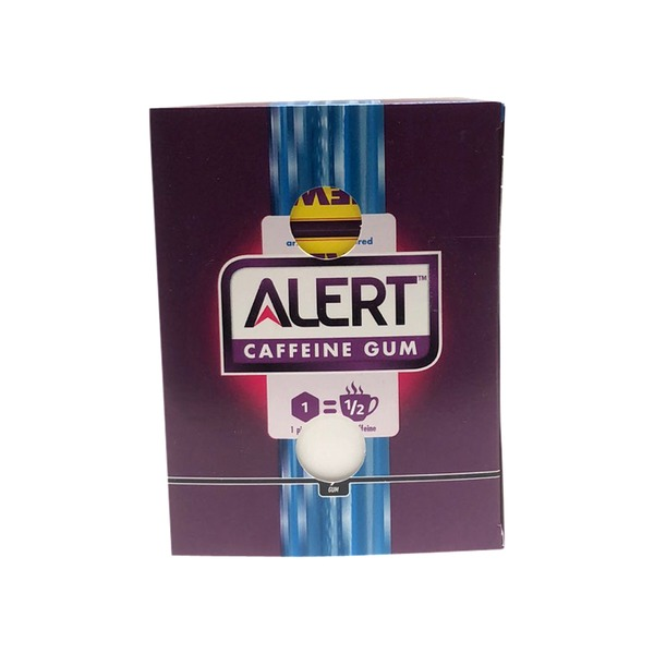 Alert Energy Mint Sugar Free Caffeine Chewing Gum (each