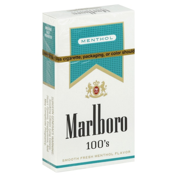 Marlboro Menthol Lights 100 S Cigarette Box Pack Each From Jewel