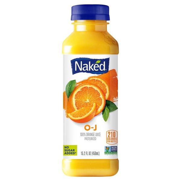 Naked Pure Fruit O-J, 100% Orange Juice (15.2 fl oz
