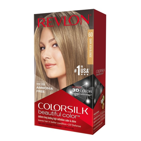 Revlon Colorsilk Hair Color Kit 60 Dark Ash Blonde From Giant Food