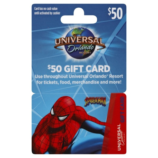 Universal Orlando Gift Card, $50 (1 each) from Kroger