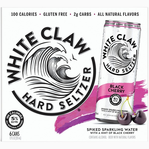 White Claw Hard Seltzer Black Cherry Spiked Sparkling Water