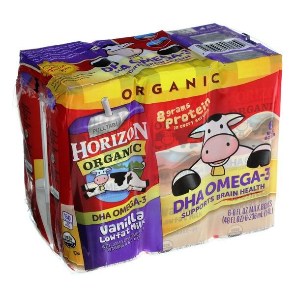 Horizon Organic Vanilla Lowfat Milk (8 fl oz) from Publix - Instacart