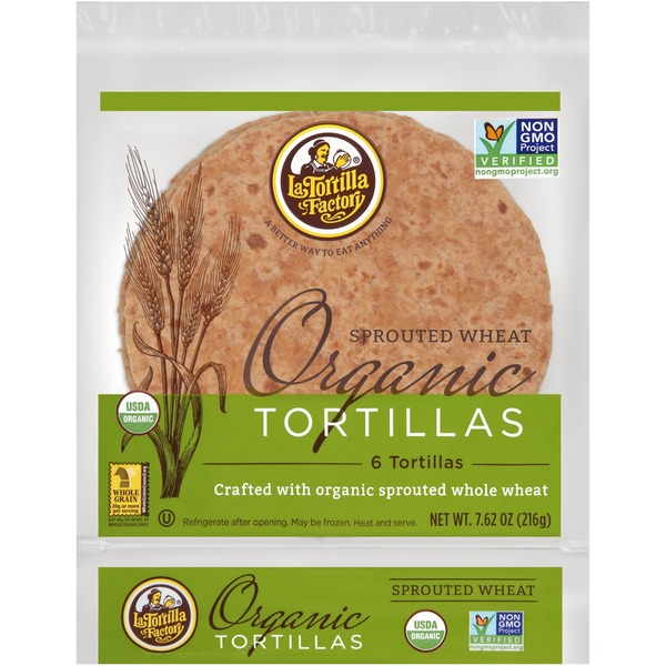 La Tortilla Factory Sprouted Wheat Organic Tortillas (7 62