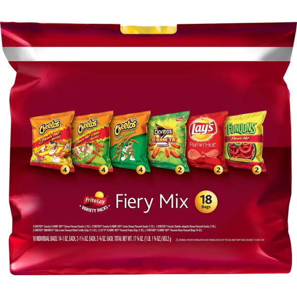 Lay's Frito Lay Snacks, Fiery Mix Variety Pack (17 75 oz) from
