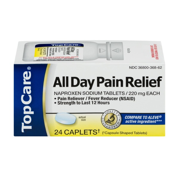 Topcare All Day Pain Relief Naproxen Sodium Tablets 220 Mg Pain