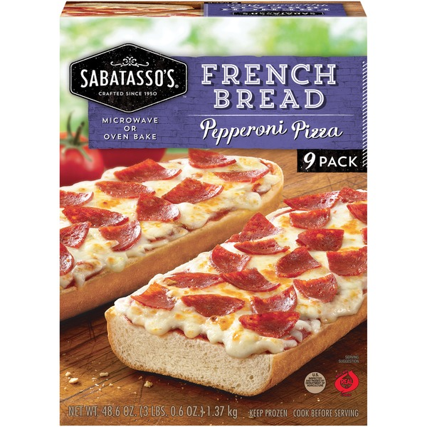 Sabatasso S Pizzeria French Bread Pepperoni Pizza 5 4 Oz Instacart