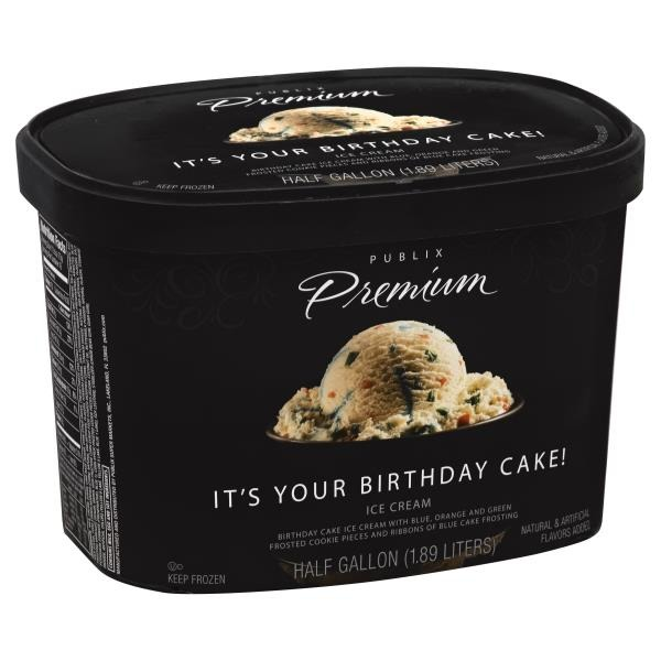 Publix Premium Its Your Birthday Cake Ice Cream 12 gal from