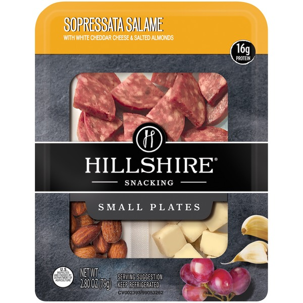 Hillshire Snacking Hillshire Snacking Small Plates Sopressata Salame With White Cheddar Cheese 2 2 8 Oz Instacart