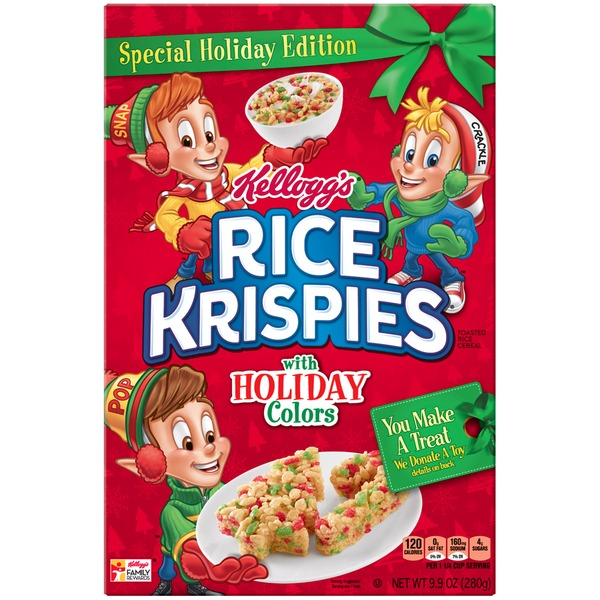 Kelloggs rice krispies with holiday colors toasted rice cereal from kelloggs rice krispies with holiday colors toasted rice cereal ccuart Gallery