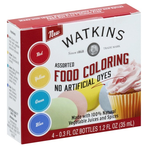 J.R. Watkins Assorted Food Coloring from Vons - Instacart