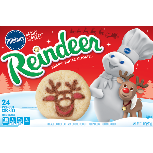 Pillsbury Ready To Bake Reindeer Shape Sugar Cookies From Randalls