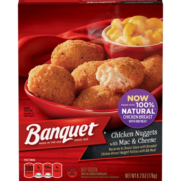 Banquet Basic Chicken Nuggets With Mac And Cheese Meal From Cub