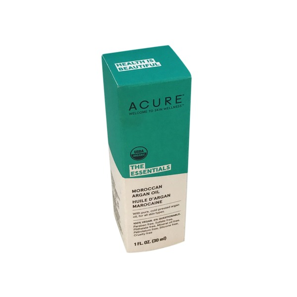 Acure The Essentials Moroccan Argan Oil, Pure, Cold Pressed