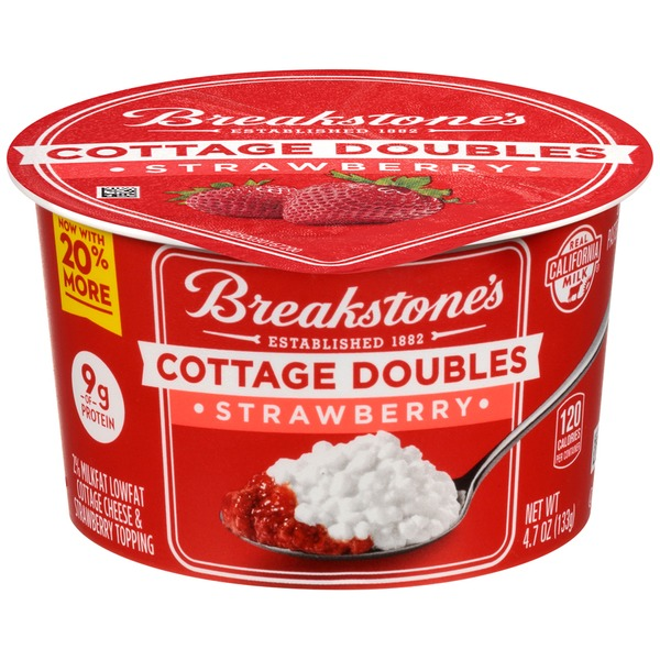 Beautiful Breakstoneu0027s Cottage Doubles Strawberry Cottage Cheese U0026 Topping