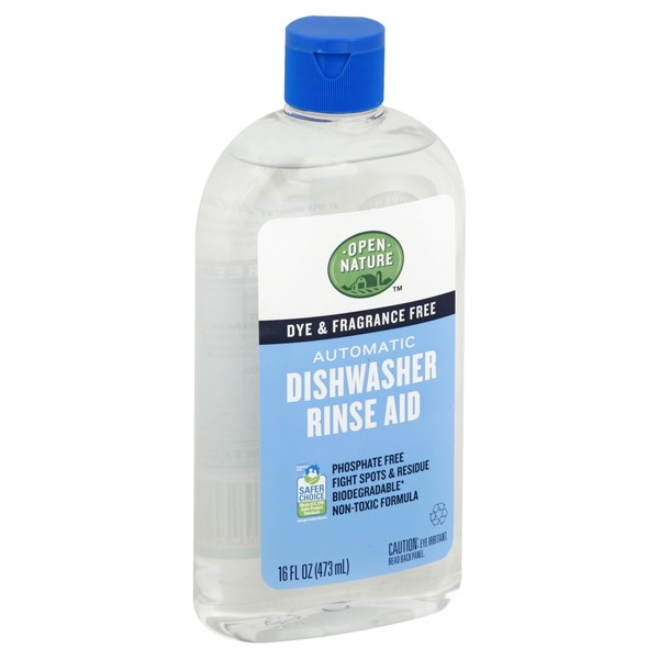 Open Nature Dishwasher Rinse Aid, Automatic (16 oz) from