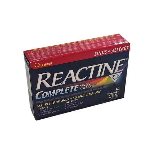 Reactine 180406 12 Hour Allergy & Sinus Tablets (10 ct) from