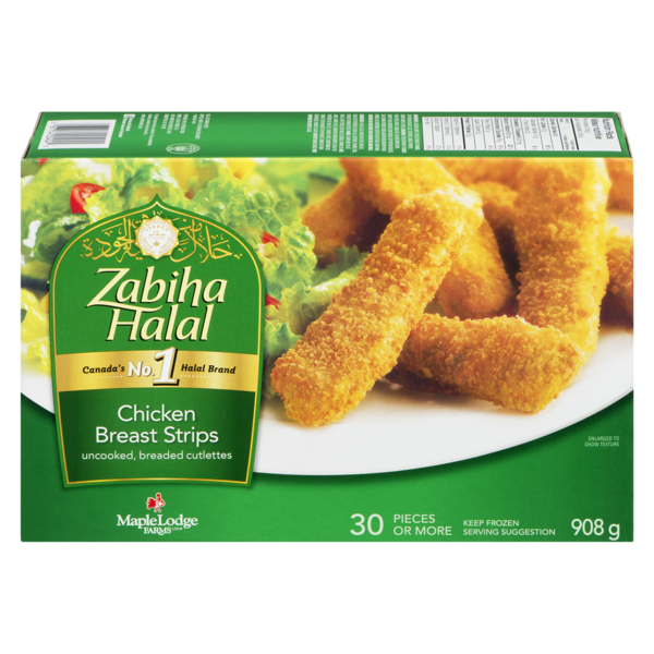 Maple Lodge Farms Zabiha Halal Chicken Breast Strips (30 ct