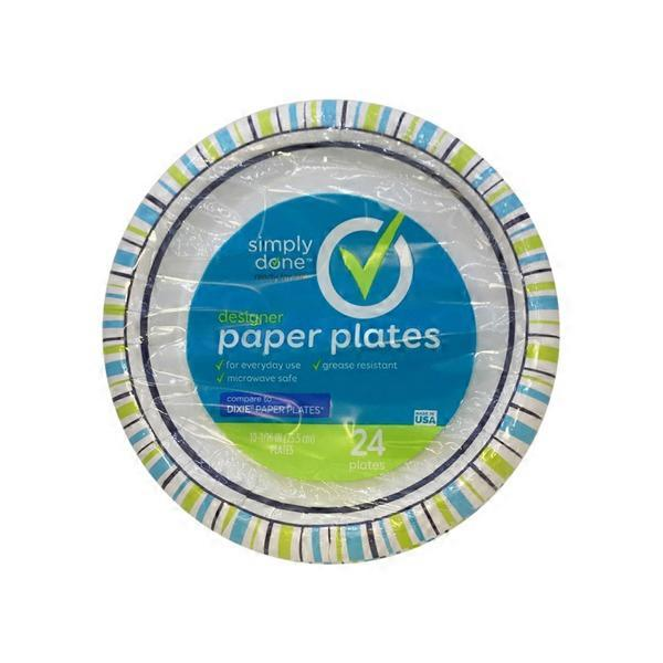 Simply Done 10-1/16  Designer Paper Plates (24.00 ea) from Stater Bros. - Instacart  sc 1 st  Instacart & Simply Done 10-1/16