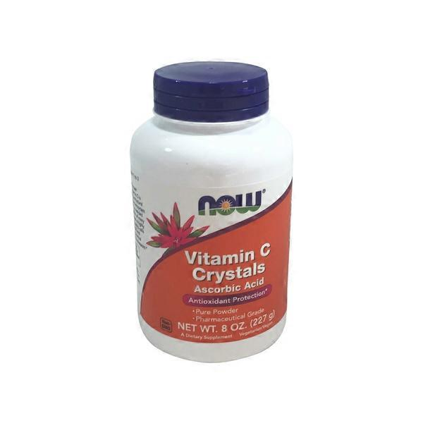 Now Vitamin C Crystals Ascorbic Acid Powder (8 oz) from Whole Foods ...