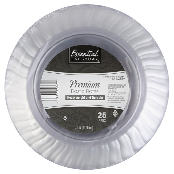 Essential Everyday Scalloped Clear Round Plastic Plates 7.5\   sc 1 st  Instacart & Essential Everyday Scalloped Clear Round Plastic Plates 7.5\