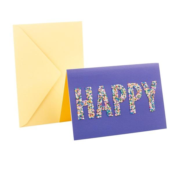 Hallmark Signature Birthday Greeting Card Happy Sprinkles 10 Ct