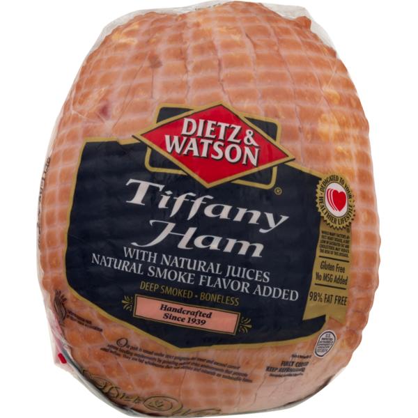 Dietz & Watson Ham, Deep Smoked, Boneless, Tiffany, Gluten ...