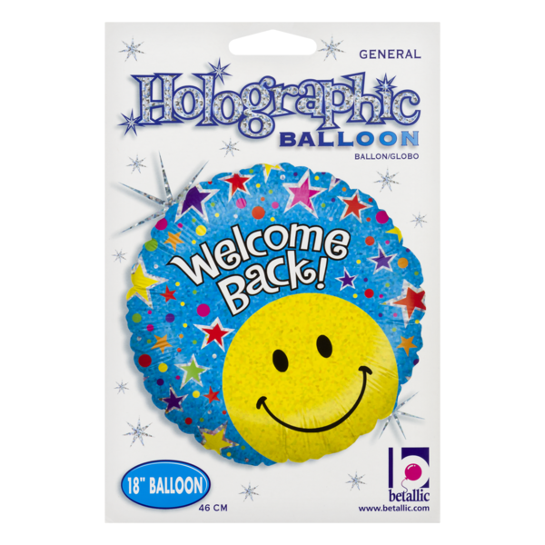 Betallic Holographic Balloon Welcome Back 1 Ct From Kroger