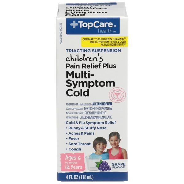 Topcare Multi Symptom Cold Children S Pain Relief Plus