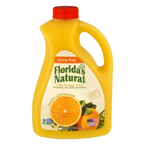 Florida S Natural Orange Juice Some Pulp From Publix Instacart