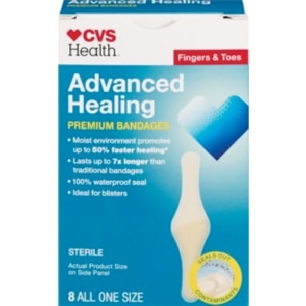 Cvs Advanced Healing Premium Finger Bandages 8 Ct From Cvs