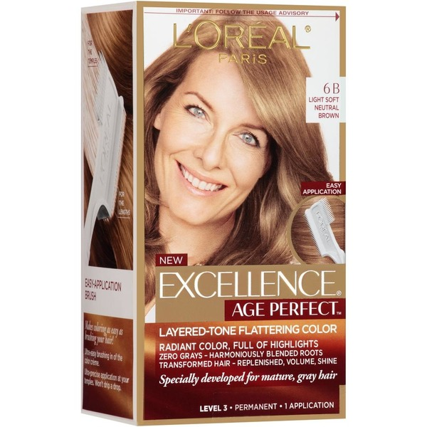 Excellence Age Perfect 6b Light Soft Neutral Brown Hair Color From
