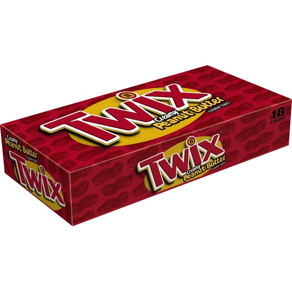 Twix Peanut Butter Singles Size Chocolate Cookie Bar Candy