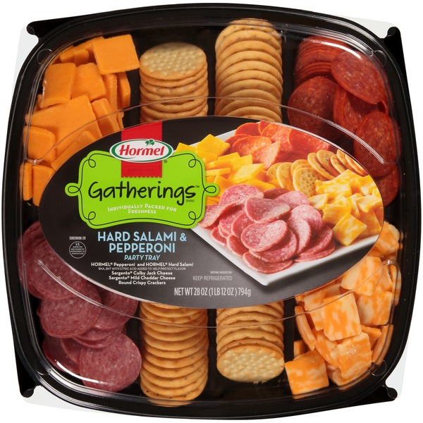 Hormel Gatherings Hard Salami Pepperoni Party Tray From Food Lion