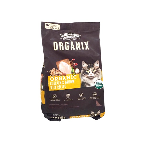 Castor Pollux Organix Chicken Brown Rice Recipe Dry Cat Food